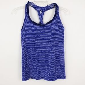 Lucy Workout Athletic Racerback Tank Top Blue L